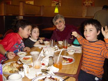 Grandma with kids ;-)