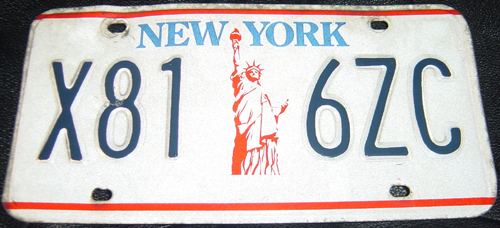 Old NYS vehicle plate